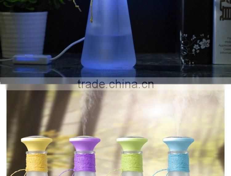 2017 New design wishing bottle air humidifier, home ultrasonic humidifier