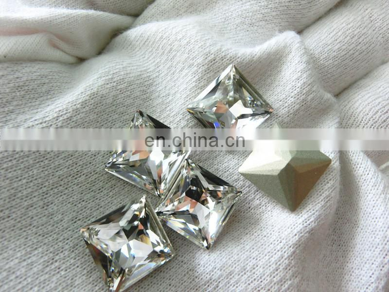 Dongzhou Clear Square shape Fancy Stone Crystal Wholesale