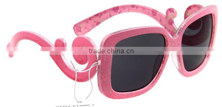 2014 hot sell fashion kid good materail cheap cool wholesale rubber foam trendy kids pink custom kids sunglasses