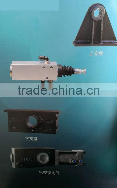 single acting 3 stages hydraulic cylinder for dump truck