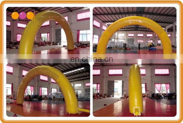 AOQI design yellow custom inflatable arch advertising inflatable arch for sale
