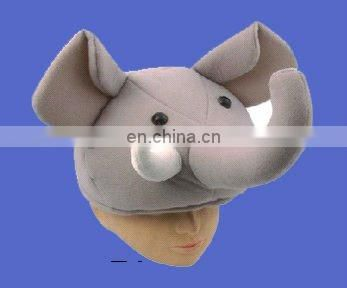 adult gray baseball cap with wig