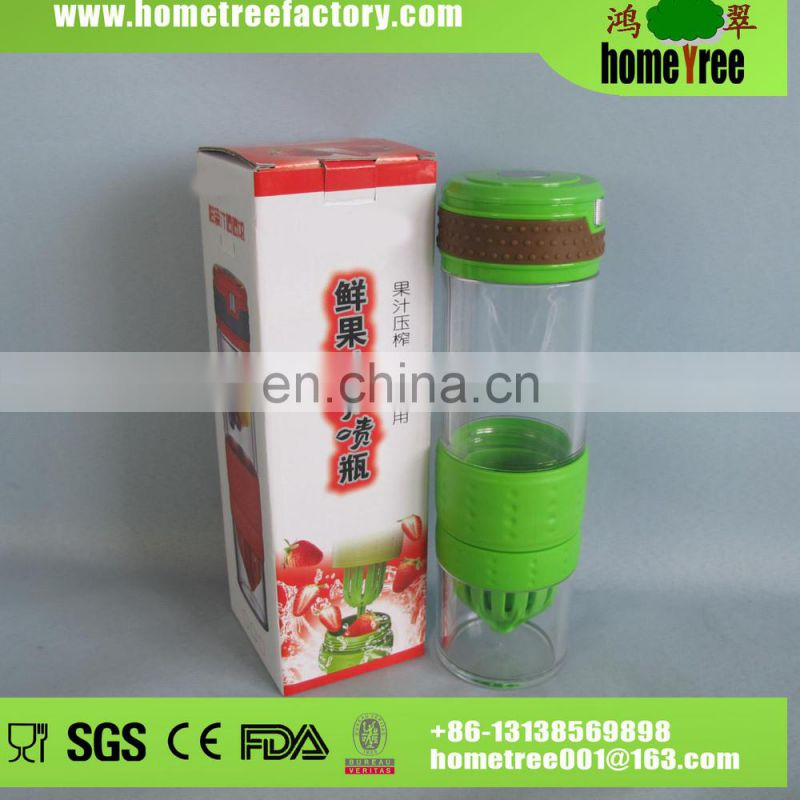 Thermal Plastic Drinking Water Bottle Cap Push Pull With Straw And Handle