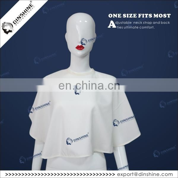 Custom printed logo non-woven beauty disposable makeup cape
