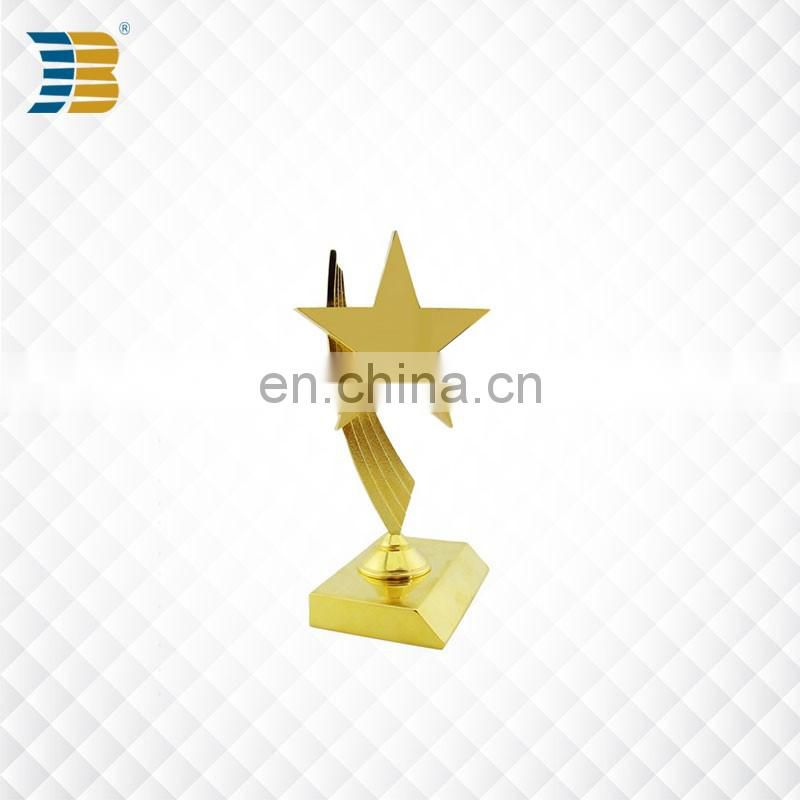 star shape custom gold plated award trophy