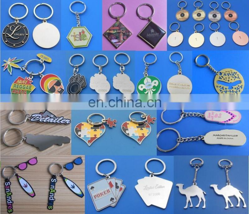 custom brass material heart shaped keychain for promotion