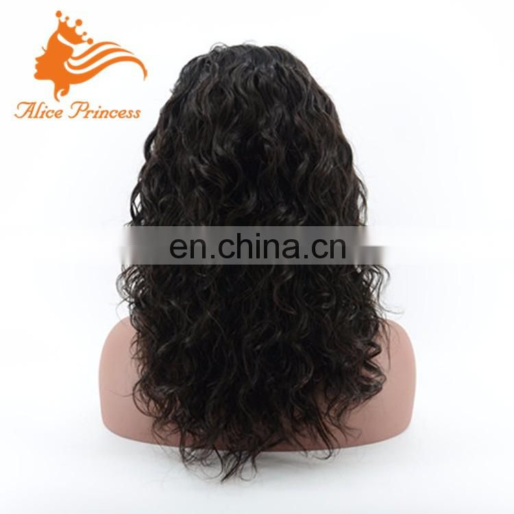 Virgin Indian Human Curly Hair Wigs For BlacK Women Silk Base Full Lace Loose Curl Natutal Scalp Wig