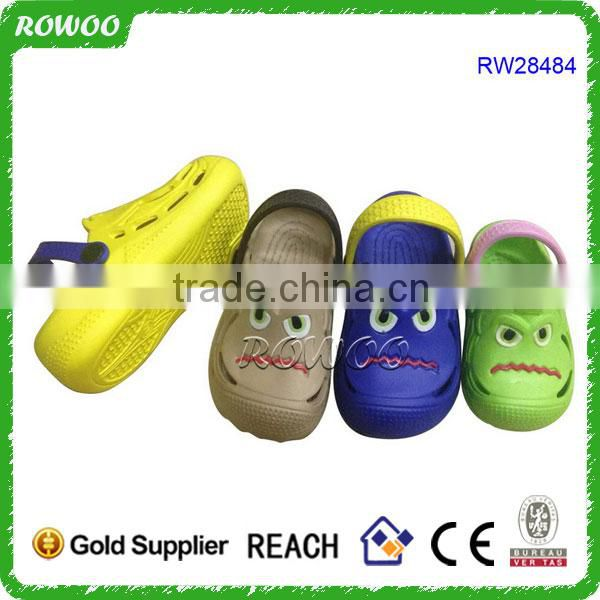 Top selling comfortable cute cartoon kids clogs secure fit children garden shoes clogs