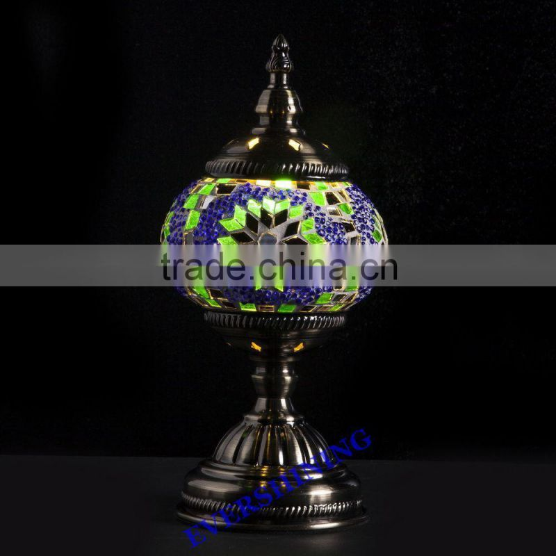 Evershining Lighting Brand YMA401 Glass Handmade Decorative Colorful Night Lamps Turkish Mosaic Lamp for Export