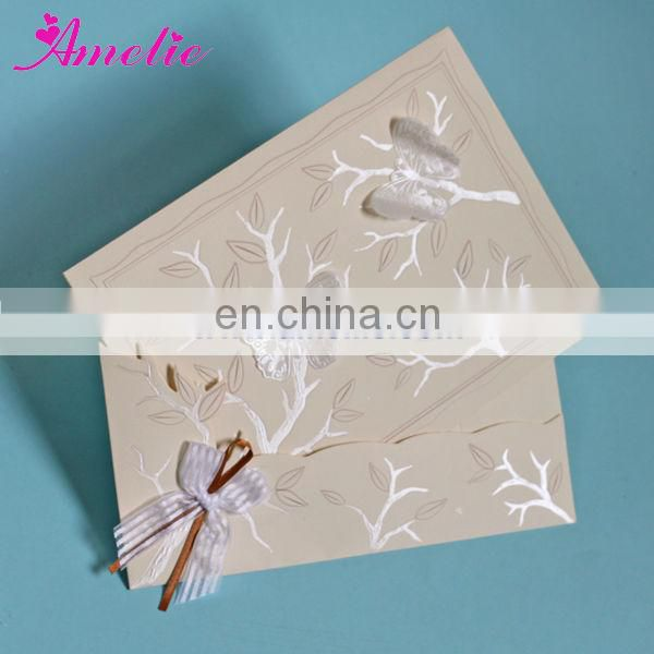 AT001 Wedding Cheap Paper Cards Wholesale