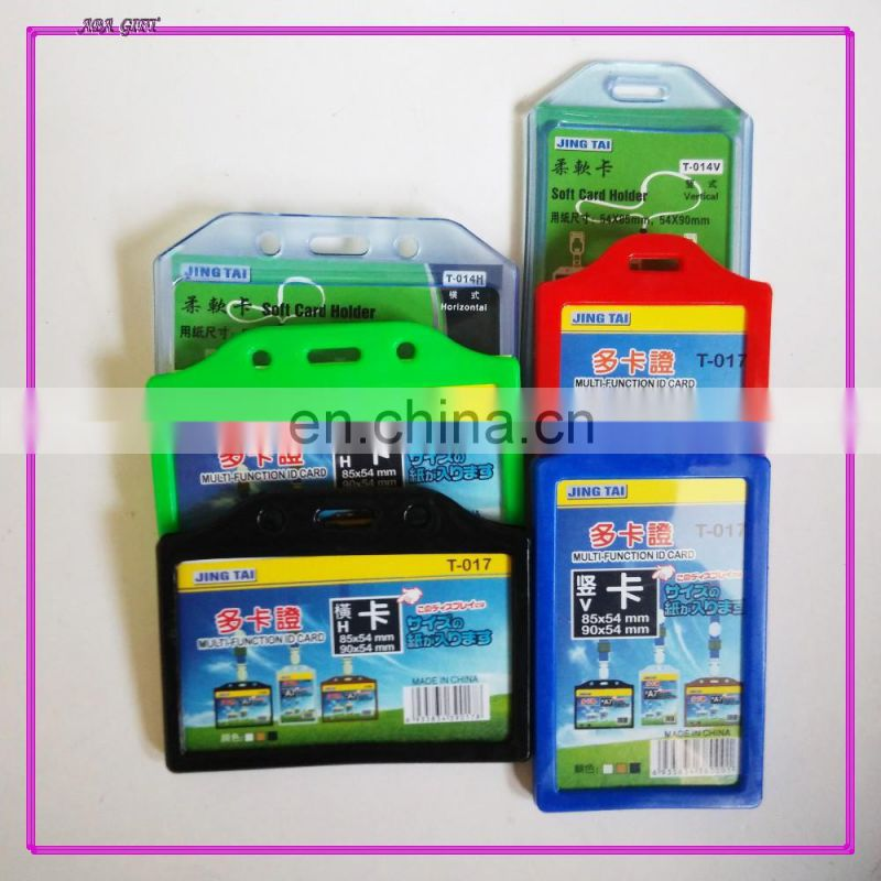 customized color thick PVC id card holder