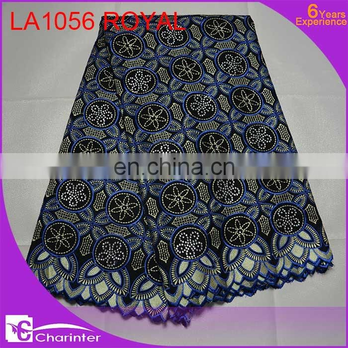 2016 cotton lace fabric african voile lace fabric wholesale in Guangzhou