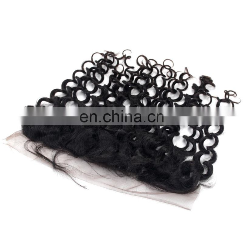 Peruvian virgin hair tangle free lace frontal 13x8