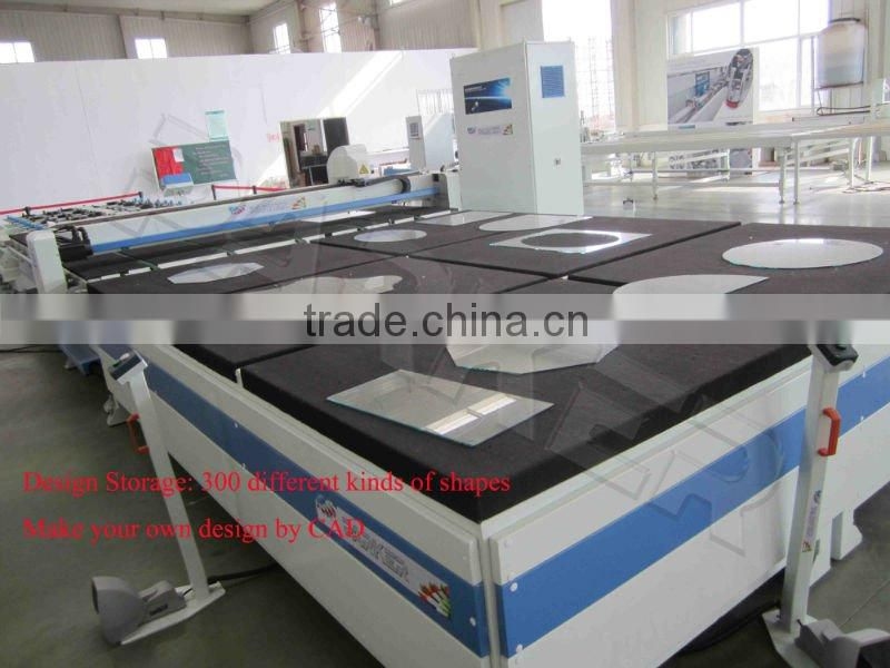 CNC Glass Cutting Produce Line/rectilinear glass cutting machine/automatic round glass cutting machine