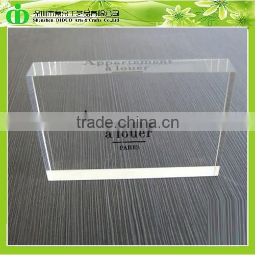 DDB-0041 ISO9001 Chinese Factory Wholesale SGS Test Sign Acrylics of