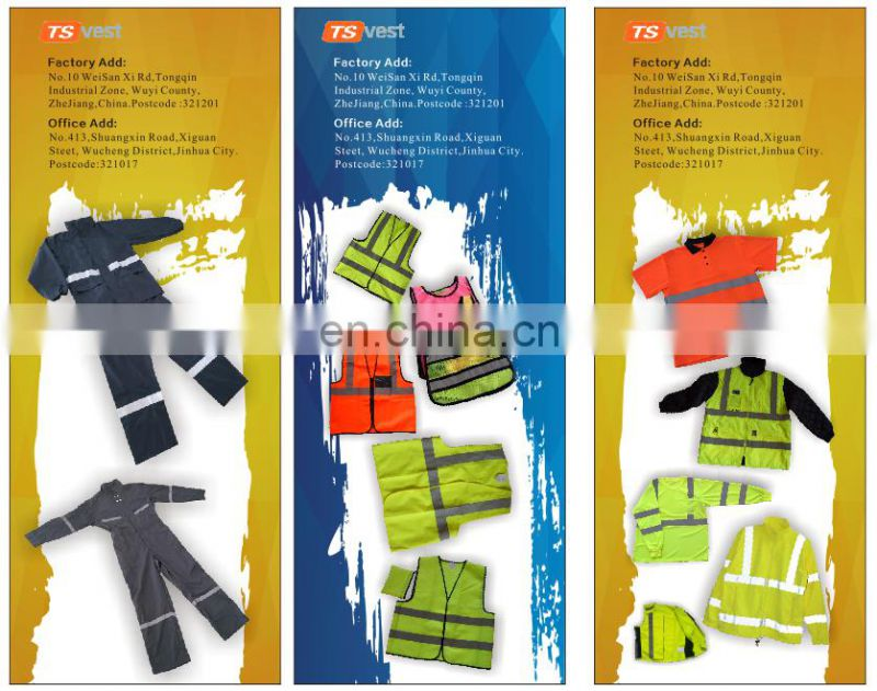 Hi vis clothing manufacturers winter work reflective safety jacket
