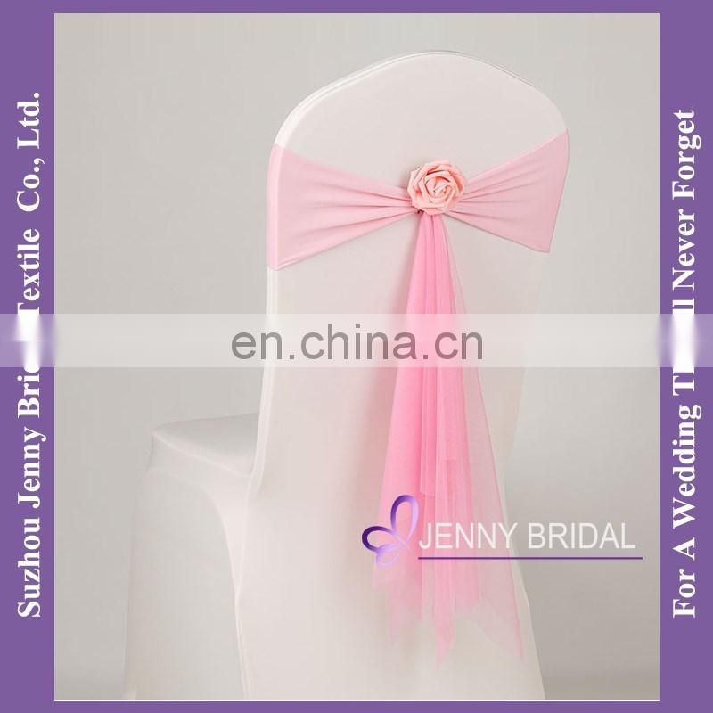 SH090A dusty pink chair sashes in silk organza fabric india