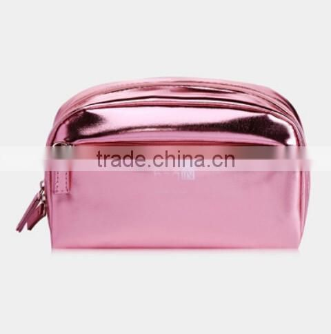 Wholesale Large Capacity Zipper PU Leather Makeup Bag Beauty Case Cosmetic Purse For women