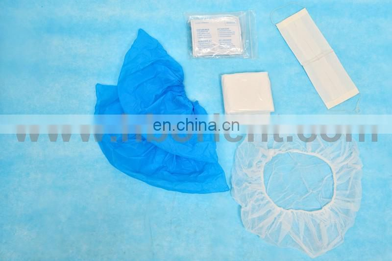 Sterile disposable PE CPE visitor coat kits