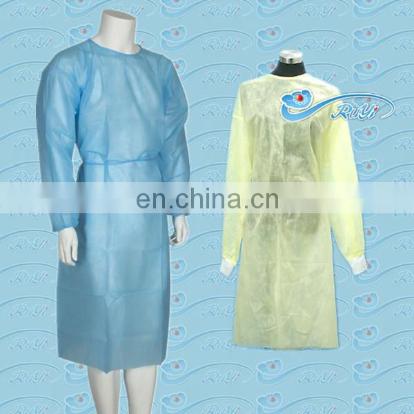 PP white Disposable Lab Gown
