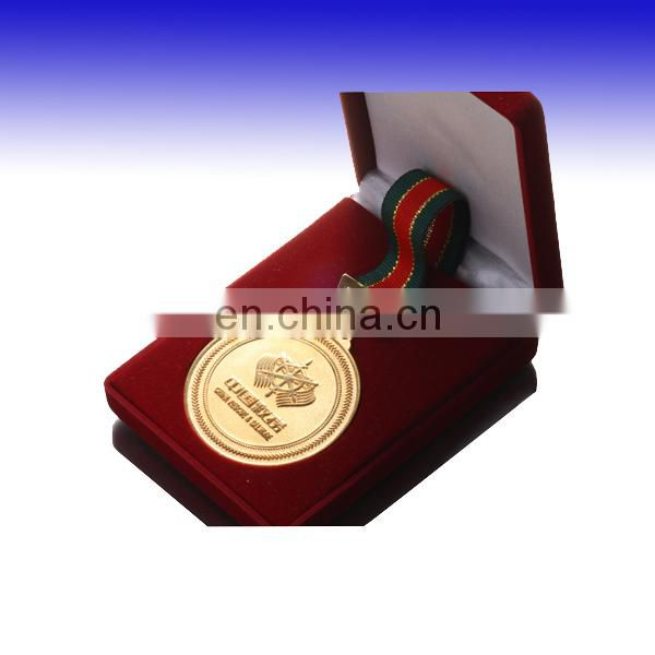 custom gold medal trophy with lanyard