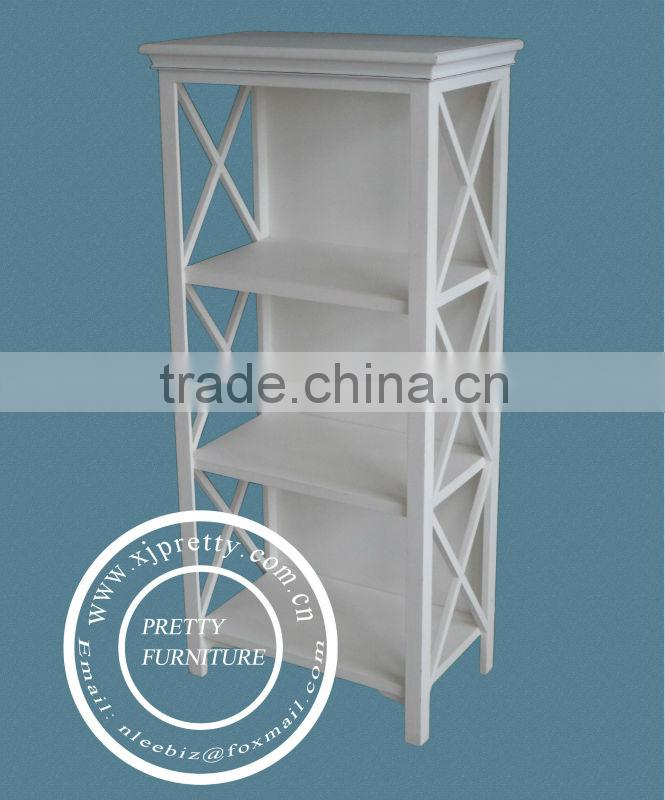 white color MDF towel rack / wooden bathroom furniture / wooden storage shelf / wooden living room furniture