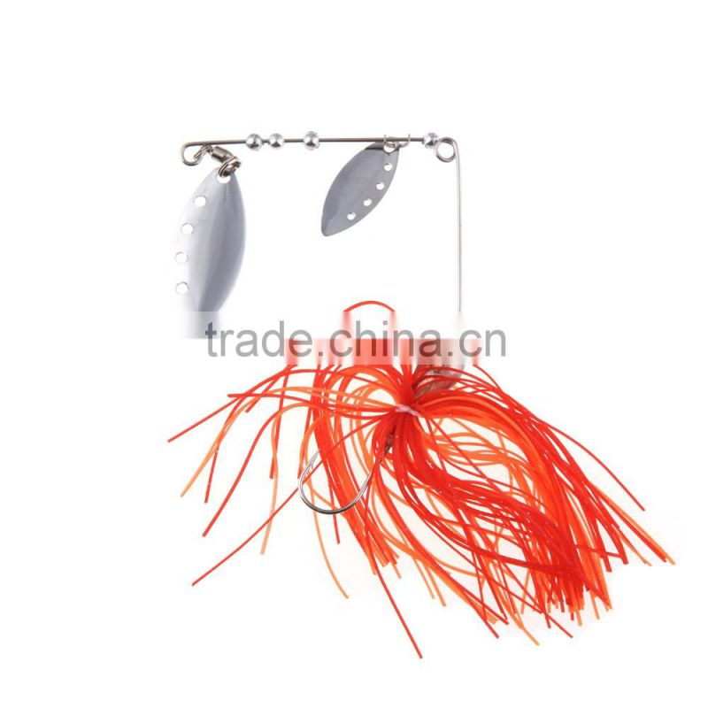 17g Fishing Lure Spinnerbait Fresh Water Shallow Water Bass Walleye Crappie Minnow Fishing Tackle with Jig Hook