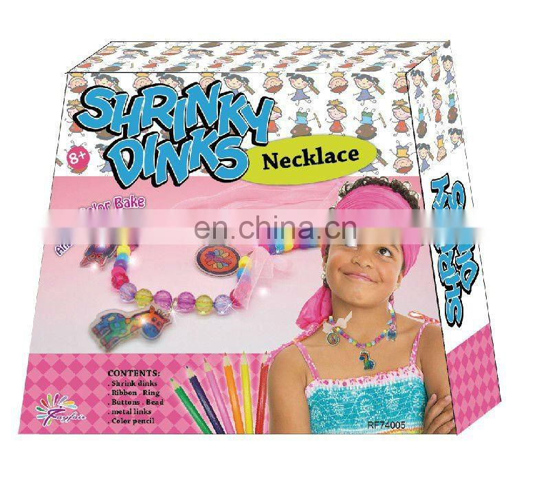 DIY Shrink dinks shrink arts for kids (Necklace)