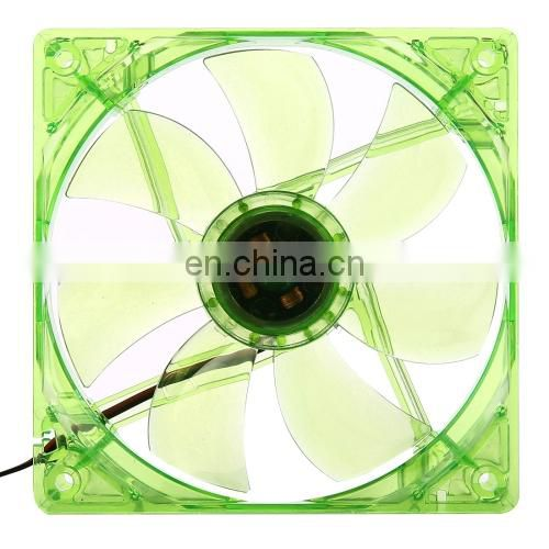 dropshipping mini fan 12025 4 Pin DC 12V 0.30A Computer Case Cooler Cooling Fan with LED Light, Size: 120x120x25mm (Green)