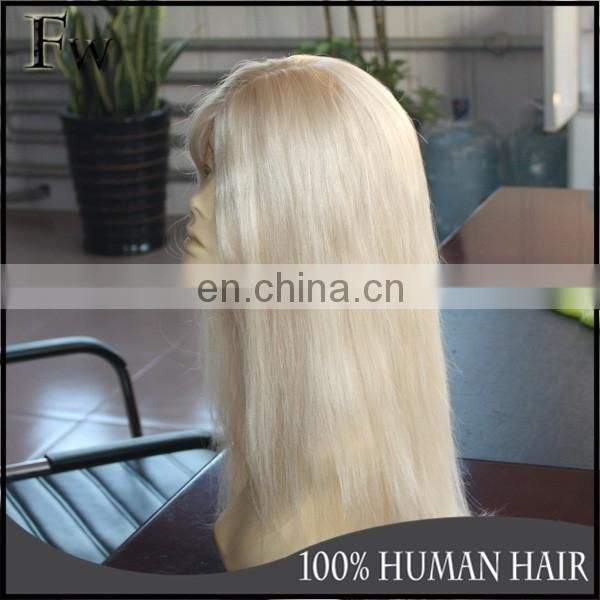 Cheap Natural Human Hair wig Brown Lace Front Wig For Woman Wave