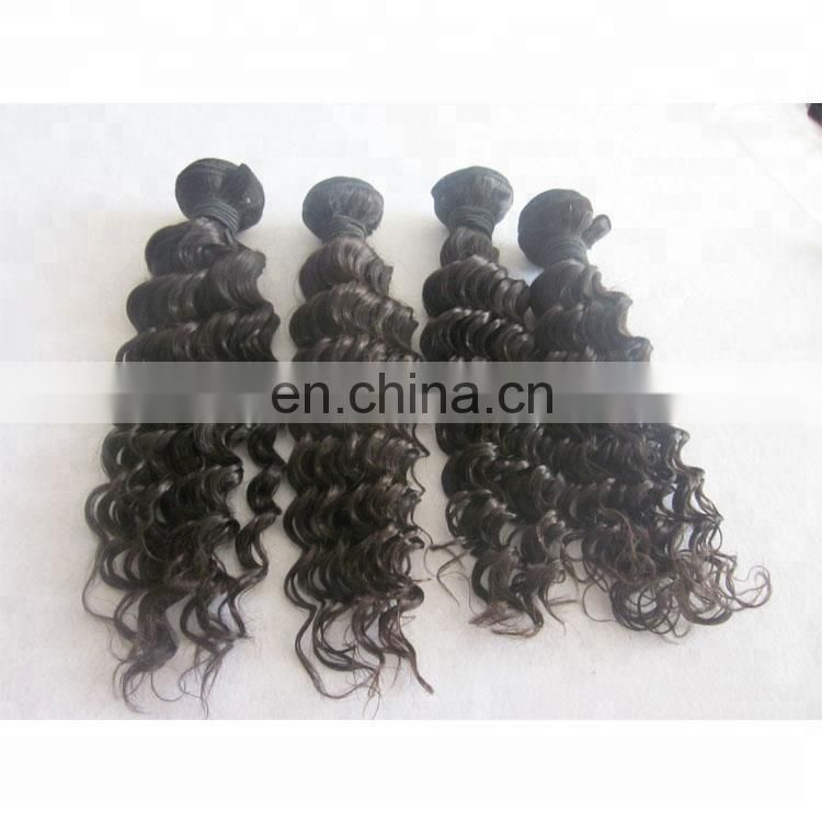 factory wholesale stock virgin human hair bundles natural color deep wave weaving