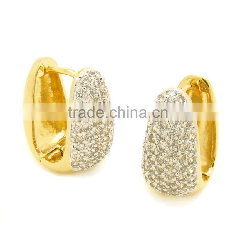 semi joias brass raw jewelry earrings aaa cubic zirconia 14k gold earrings