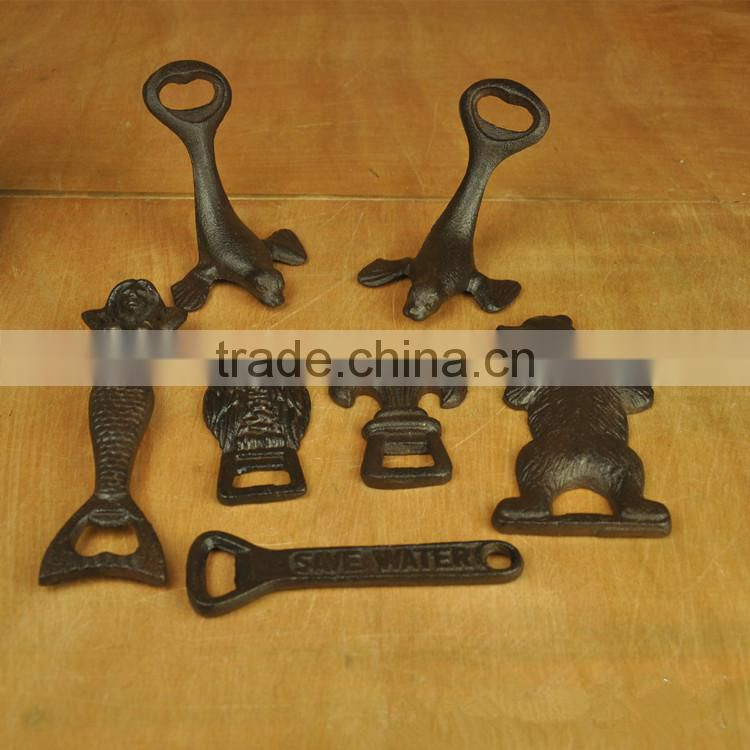 wholesale cast iron artware manual bottle opener, beer opener