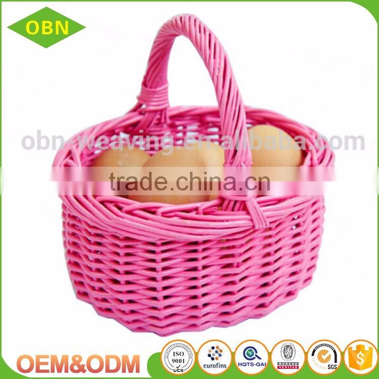 Wholesale newest and cheapest handmade colored fancy names wicker baskets or gift baskets