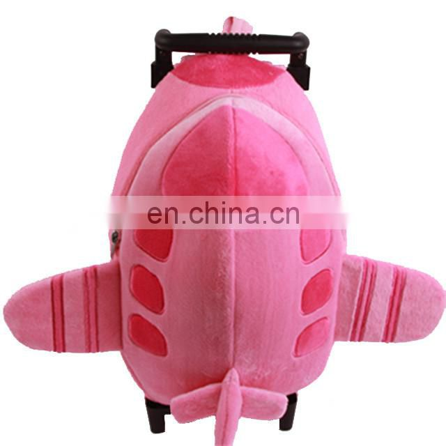 OEM plush child/kids trolley luggage bag /animal kids travelling bag with wheels