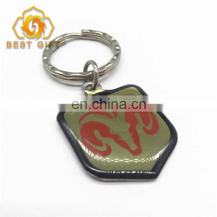 Souvenir Customized Epoxy Design Metal Keychain
