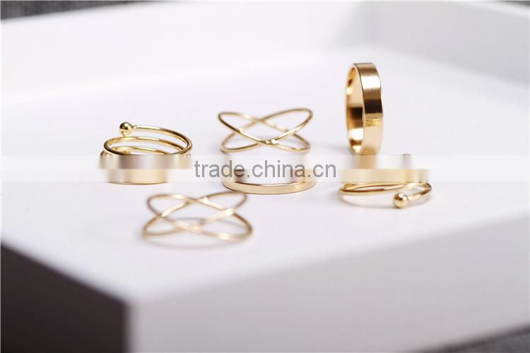 Set Of 6 Spiral Fashion Suit Ring Knuckle Ring