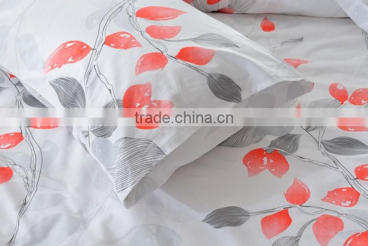 2016 Best bed sheets manufacturers in Guangzhou wholesale price 100% cotton reactive printed bedding set