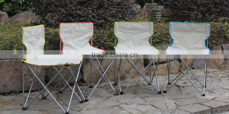Yellow fishing folding chair without armrest