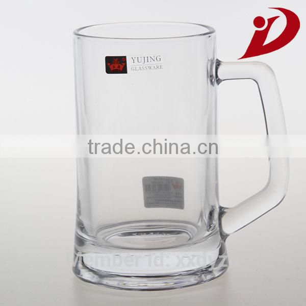 High quailty double wall glass cup with handle