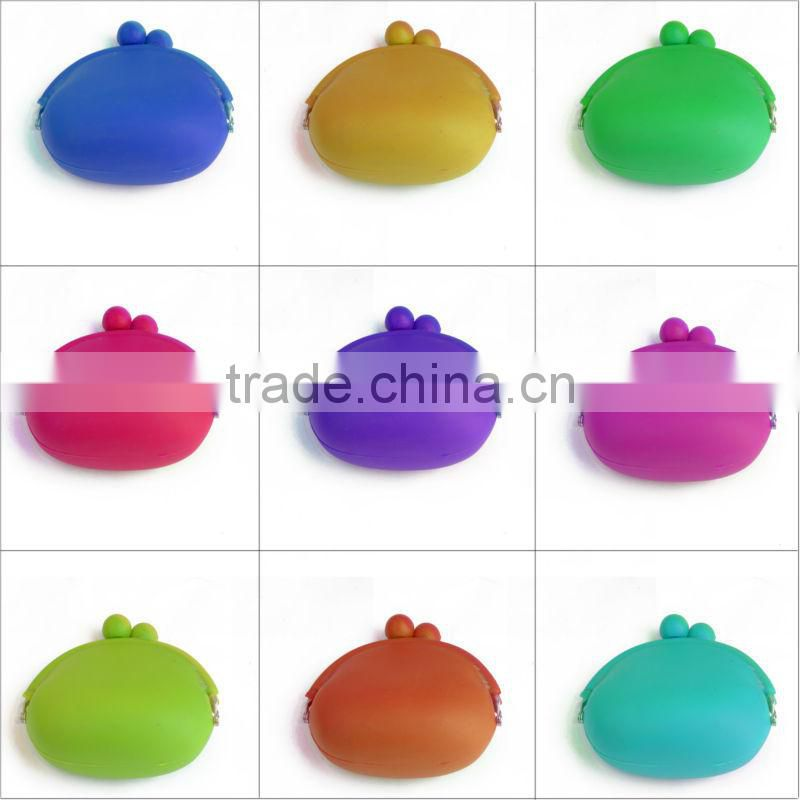 custom design silicone coin holder cheap coin purse