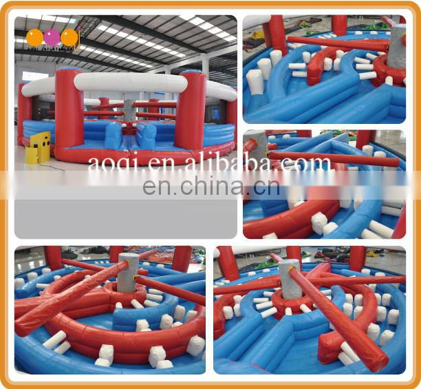 cheap price wipeout obstacle course gaint wipe out game inflatable for sale