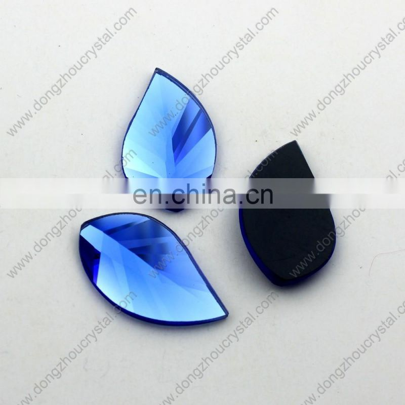 shinning bule crystal glass stones for clothing