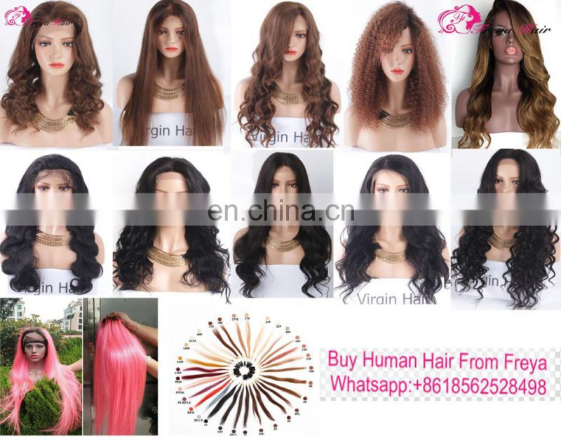 Ideal quality honey blonde human hair full lace wig