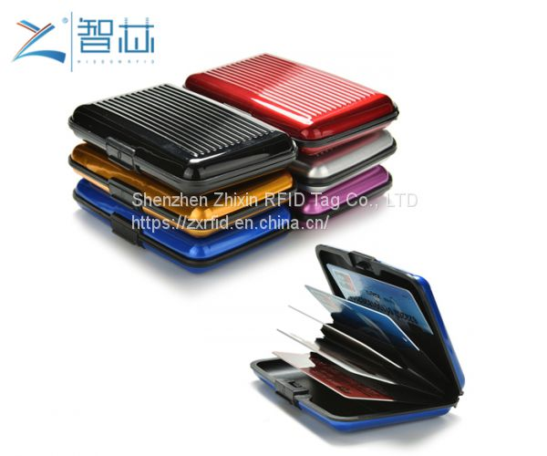 ABS Card Case Bag for Protect 13.56mhz RFID Bank Card,Paper RFID Blocking Sleeve,Plastic RFID Blocking Sleeve Image
