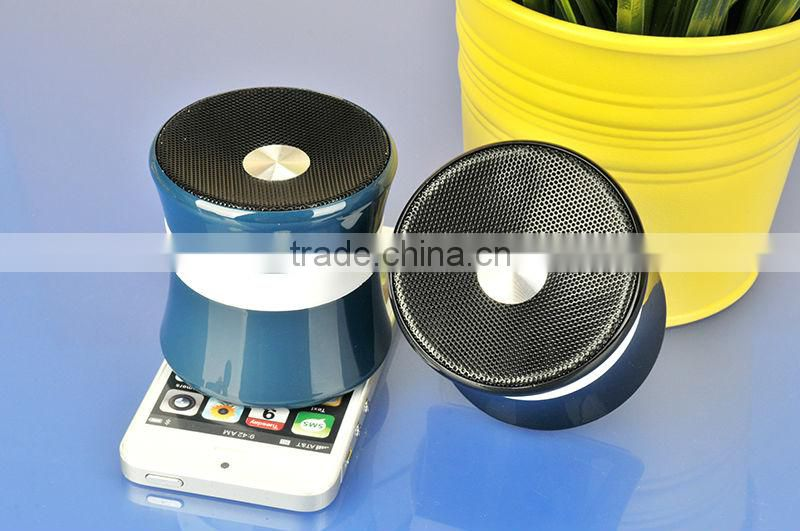 Promotion gift New products / mini Portable bluetooth Speaker / Wireless bluetooth Speaker with FM radio 2014 alibaba express