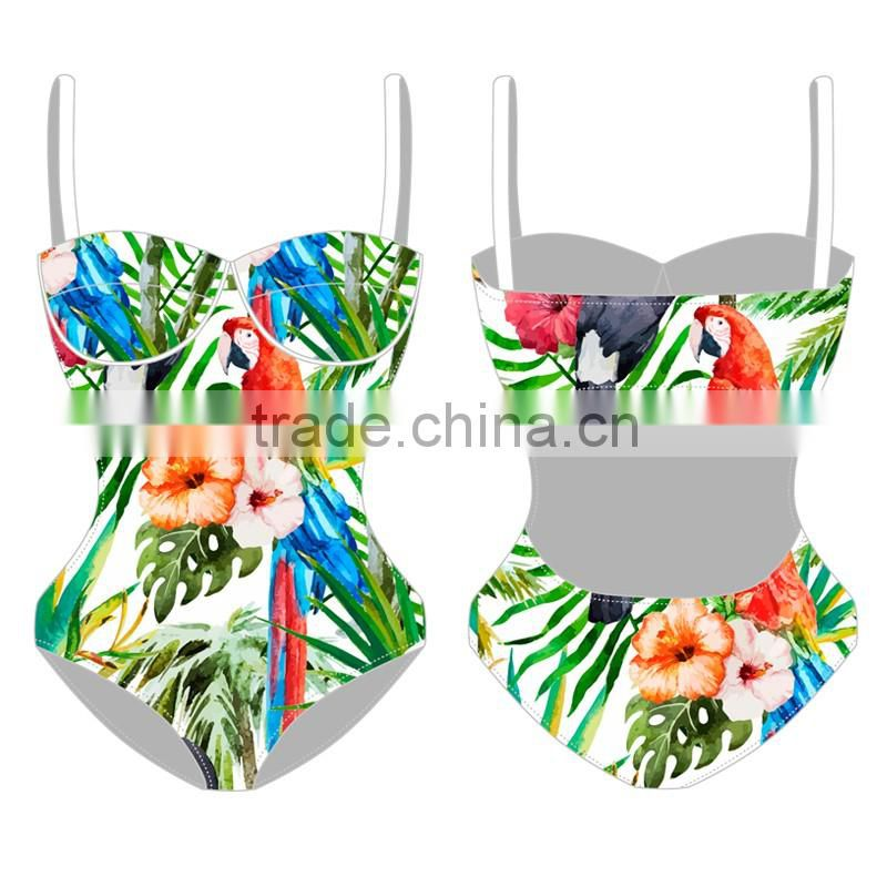 OEM factory 2016 popular hot sexy women swim wear custom women One-Piece Swimsuit plus size