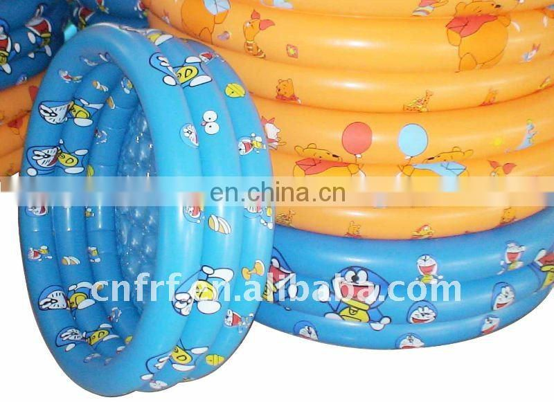 Inflatable Round Swimming Pool With Three Layers Tube
