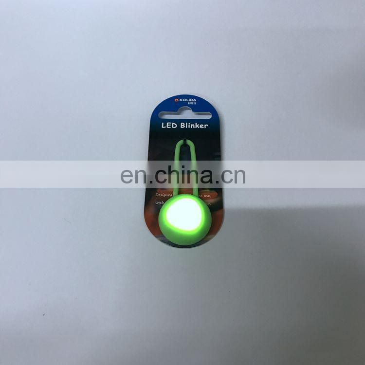 Factory OEM price colorful customized outdoor flashing silicone LED bag light