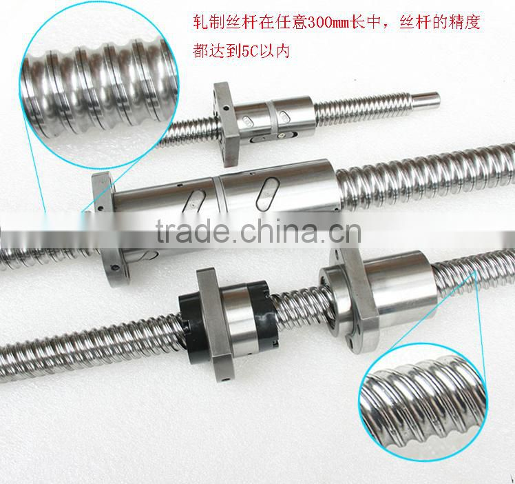 SFU1610 rolled ball screw precision acme threaded rod and nuts